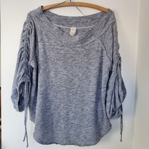 Free People We the Free Slouchy grey top